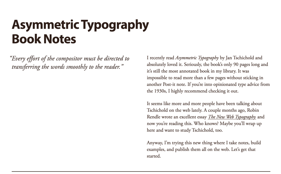Adobe Garamond with Myriad Pro