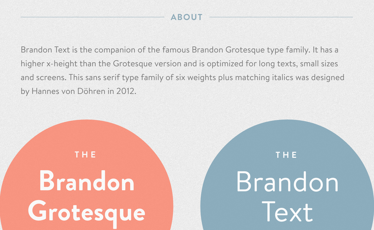 Brandon Grotesque with Brandon Text